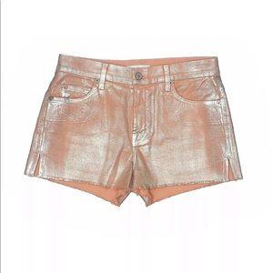 7 For All Mankind | 27 | Orange Denim Jean Shorts